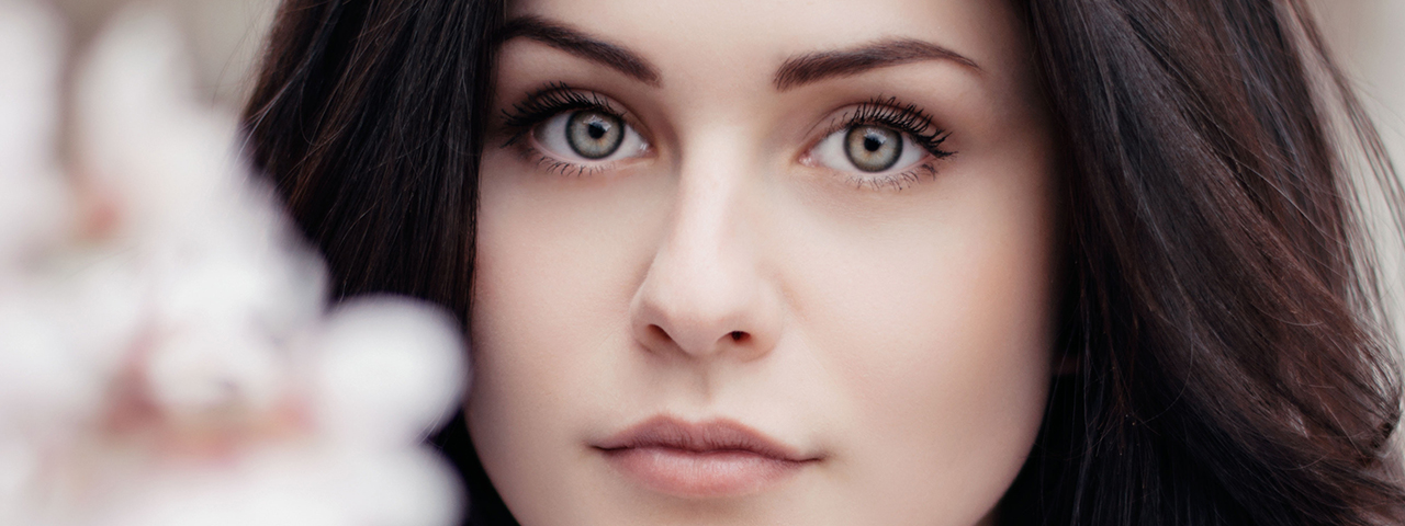 beautiful woman, beautiful eyes in ad for Eye Care Services in Jacksonville
